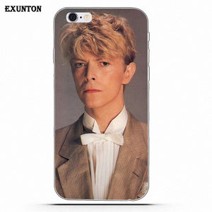 For Apple iPhone 4 4S 5 5C SE 6 6S 7 8 Plus X Soft TPU Screen Protector Popular Singer David Bowie