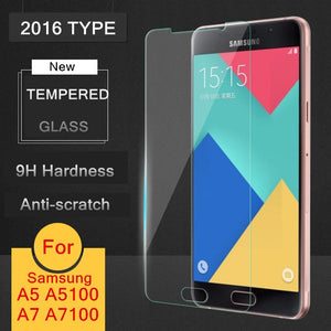 Tempered Glass Film For Samsung Galaxy A3 A5 A7 (2016 TYPE )Screen Protector Safety Protective Film A310F A510F A710F A7100 Lte