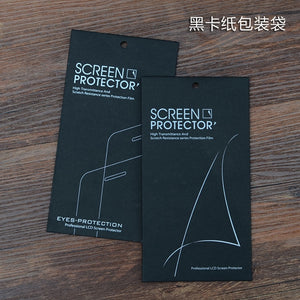 30Pcs/Lot 9x16.8cm Two Styles Black Kraft Paper Mobile Phone Screen Protector Film Packaging Box For iPhone 7 Plus Galaxy Note 7