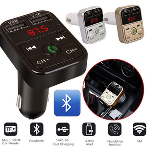 Car Charger Mobile Phone Tablet GPS Bluetooth Music MP3 Audio Receiver 2.1A Fast Car-Charger Dual USB Car Phone Player Adapter