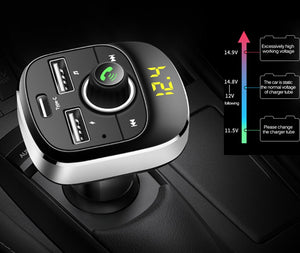 Car MP3 Player Bluetooth FM Transmitter Hands-free Car Kit Audio MP3 Modulator 1.1 Inch Display 3.1A USB Car Charger