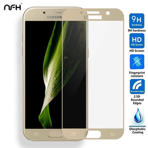 3D Full Cover Tempered Glass For Samsung Galaxy A3 A5 A7 A320 A520 A720 (2017 TYPE)Screen Protector Explosion protection Film