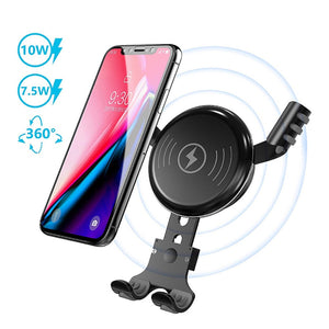 10W Wireless Fast Charging Charger Car Mount Air Vent Phone Holder for Samsung S9 7.5W Charging for Iphone XS Popular design