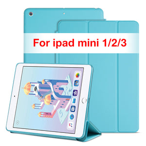 Cover Case for iPad Mini 4 3 2 1 PU Leather Silicone Soft Back Trifold Stand Sleep Smart Cover for iPad Mini 2 5 2019 Case Funda