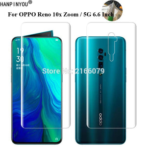 "For OPPO Reno 10x Zoom 5G 6.6"" Soft TPU Front Back Full Cover Screen Protector Transparent Protective Film +Tools (Not Glass)"