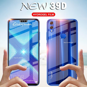 39D Front and Back Hydrogel Film For Huawei P20 P30 Lite Pro P Smart 2019 Screen Protector For Honor 8X 10 Lite Ultra thin Film