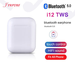 Original i12 TWS Pop up Blutooth Earphone Wireless Earbuds Stereo Touch Sports Headset PK i80 i88 Binaural Call Headphones Elari