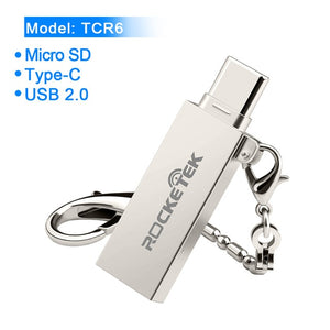 Rocketek usb 2.0 3.0 memory card reader Type c OTG android adapter cardreader for micro SD/TF microsd readers laptop computer