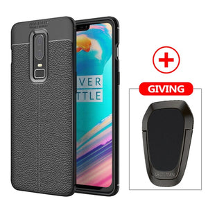 Carbon Fiber Case For OnePlus 6 6T 5 5T Magnetic Metal Ring Soft Silicon Case Car Holder Cover For One Plus 6T 6 5 T 3T 3 7 Pro