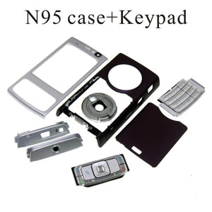 For Nokia N95 Housing Front Faceplate Frame Cover Case+Back cover/battery door cover+Keypad