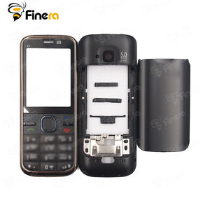 Front Middle Frame Back cover Battery Cover For Nokia C5 C5-00 Full Housing Cover Case With English Keypad