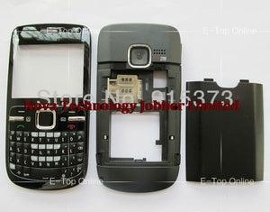 Wyieno For Nokia C3 C3-00 Housing Cover With keypad Blue/black/white Colored Complete Replacement Case + tracking
