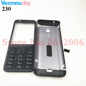 For Nokia 230 230ds RM-1172 RM-1126 New Full Complete Mobile Phone Housing Cover Case+English Keypad+Logo