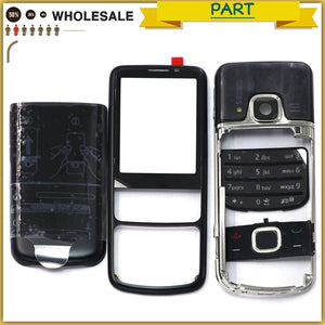 Rear 6700 Front Middle Frame Battery Back Cover For Nokia 6700 6700C Classic Full Housing case With English / Russia Keypad