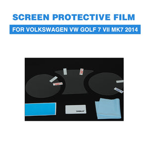 Screen Protective Film PET Car Dashboard Protectors For Volkswagen VW Golf 7 VII MK7 2014