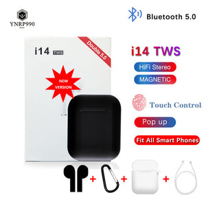 i14 tws Headset 1:1 In-ear Wireless fone Bluetooth 5.0 Earphone Earbuds Touch Control Sport for iphone xiaomi audifonos elari