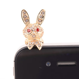 Super Popular Meng Rabbit Anti-dust Headphones Hole Dustproof Plug Universal Mobile Phone 3.5mm Earphone Dust Plug
