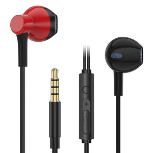 Popular Earphone Half In-ear Headphones Stereo Bass Music Headset with Mic Handsfree for Phone Iphone 5 5s 6 6s Plus auriculares