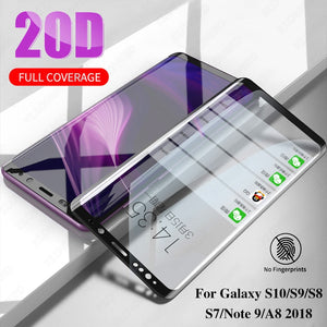 20D Full Cover Tempered Glass For Samsung Galaxy S10 S10E S8 S9 Plus Note 9 8 S7 Edge A9 A8 Plus 2018 Screen Protector Film