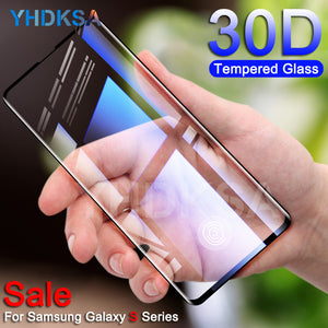 30D Protective Glass on the For Samsung Galaxy S10e S10 S9 S8 Plus S7 Edge Note 8 9 Tempered Screen Protector Glass Film Case