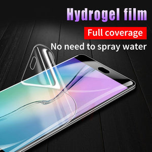 20D Soft Full Cover Screen Protector Hydrogel Membrane Film for Samsung S9 S8 S10 S6 S7 plus edge note 5 8 9 A5 Film Not Glass