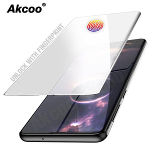 Akcoo S10 UV Glass Screen Protector UNLOCK WITH FINGERPRINT for Samsung Galaxy S10 Plus S10e S8 9 Note 8 9 glass full glue film