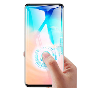 10pcs/lot Full cover tempered glass For Samsung galaxy S10 PLUS S10E S9 S8 NOTE9 8 S7 screen protector fingerprint Unlock flim