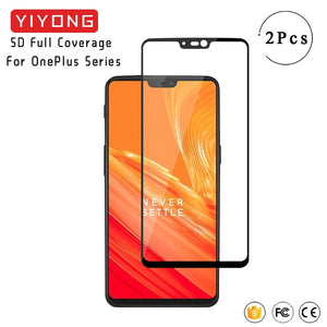YIYONG 5D Full Cover Oneplus 3T 5T 6T Tempered Glass One plus 7 5 6 T 5T 6T Screen Protector For Oneplus 7 6 5 T One Plus Glass