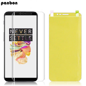 For Oneplus 3 3T 5 5T 6 6T One plus Hydrogel Film screen protector Nano-coated film + Soft TPU Full cover case capa