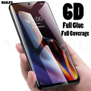 6D Full Glue cover Tempered Glass for Oneplus 6T A6010 Full Cover Screen Protector 4D 5D Upgrade Protective Film Oneplus 7 5 6T