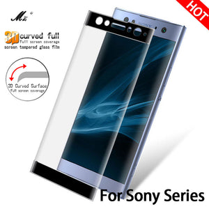 3D Full Cover For Sony Xperia XA glass Tempered For Sony Xperia XA 1 XA1 Plus XZS XA2 XA 2 Screen Protector Film XZ S F3111 Case