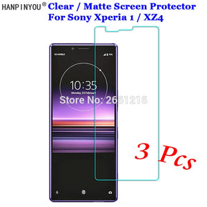 3 Pcs/Lot For Sony Xperia 1 / XZ4 / 10 / 10 Plus HD Clear / Anti-Glare Matte Front Screen Protector Touch Film Protection Skin