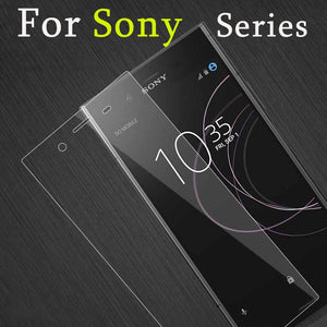 protective glass on the for sony xperia l1 glass tempered screen protector xz xz1 e5 protect glas xz 1 zx il 5e e 5 l 9h HD film