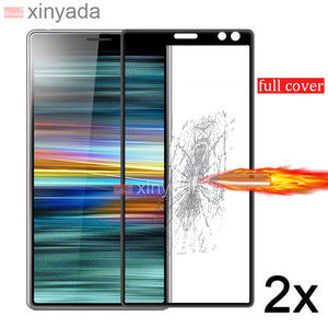 Tempered Glass For Sony Xperia 10 Plus Xperia 1 Xperia10 Glass Screen protector Lcd Film Guard Full Cover Protection