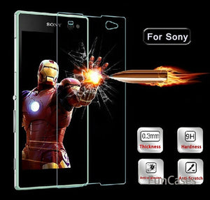 9H 0.26mm Protective Premium Tempered Glass For Sony Xperia Z Z2 Z3 Z5 Compact M2 M4 M5 E3 E5 Screen Protector Case Protect