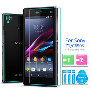 Front & Back Tempered Glass Screen Protector Cover Safety Protective Film For Sony Xperia Z Z1 Z2 Z3 Z4 Z5 Compact Z 1 2 3 4 5