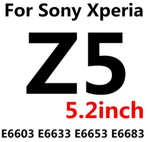 Premium Tempered Glass For Sony xperia Z Z1 Z2 Z3 Z3 Z4 Z5 Compact mini Screen Protector Film case For Sony xperia Z 1 2 3 4 5