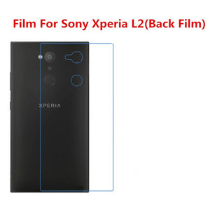 1/2/5/10 Pcs Ultra Thin Clear HD LCD Screen Guard Protector Film With Cleaning Cloth Film For Sony Xperia L2(Back Film).