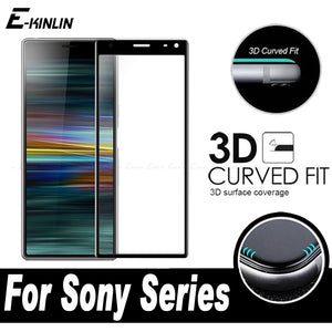 3D Curved Edge Full Cover Screen Protector Protective Film For Sony Xperia L3 1 10 Plus Ace Toughened Tempered Glass
