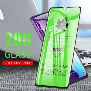 20D Full Coverage Tempered Glass For Samsung Galaxy A10 A20 A30 A40 A50 A70 A80 A90 M10 M20 M30 Screen Protector Protective Film