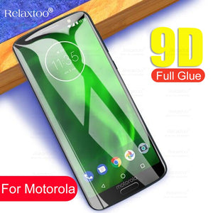9D Tempered Glass For Motorola Moto G6 Play E5 E4 Plus Screen Protector For Moto P30 Note One G7 Power Protective Glas Film