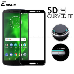 5D Curved Edge Full Cover Tempered Glass For Motorola Moto E5 G7 Power G6 G5S G5 Plus Play Screen Protector Protective Film