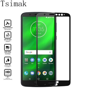 Tsimak Full Cover Tempered Glass For Moto G7 Plus G6 Play E5 Z3 G5s Screen Protector Protective Film For Motorola G7 Power