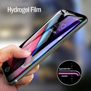 Full Cover Soft Hydrogel Protective Film for Motorola Moto G7 Plus G7 Power Moto Z Play Screen Protector NanoEdge Film Not Glass