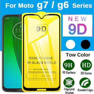 9D Tempered Glass On Moto g6 g7 Full Cover Protective Glass For Motorola Moto g7 power g6 plus play g6+ g7+ Screen Protector