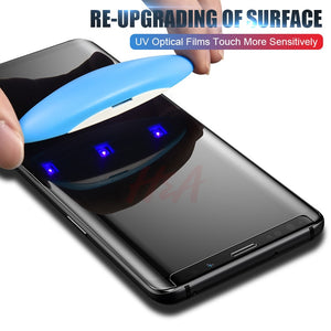 Full Liquid Glue UV Tempered Glass For Samsung Note 9 8 S9 S8 S7 Edge Screen Protector For Samsung Galaxy S10 S8 S9 Plus S10e