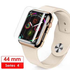 For Apple Watch 38mm 42m 40mm 44mm Full cover Screen Protector For i Watch 4 3 2 1Series UV Nano Liquid full Glue Tempered Glass