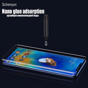 9d Uv Tempered Glass For Huawei Mate 20 Pro P20 Lite Full Cover Liquid Glue Screen Protector For Huawei p30 Pro Film