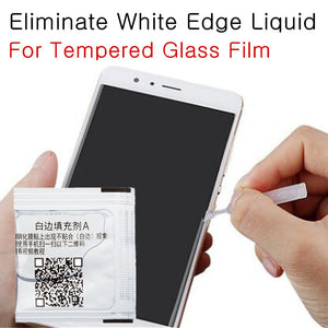Tempered Glass White Edge Eliminate Liquid For Phone Arc Edge Model Screen Protector Border Fill oil Revising Liquid with Brush