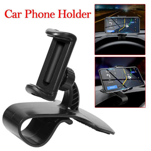 Universal Car Phone Holder Dashboard 360 Rotating Clip Mount Stand Base for GPS 4-6.5 inch Smartphone